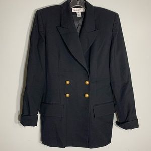 Vintage Christian Dior Wool Double Breasted Blazer